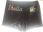 Personalised shorts with a bumble bee